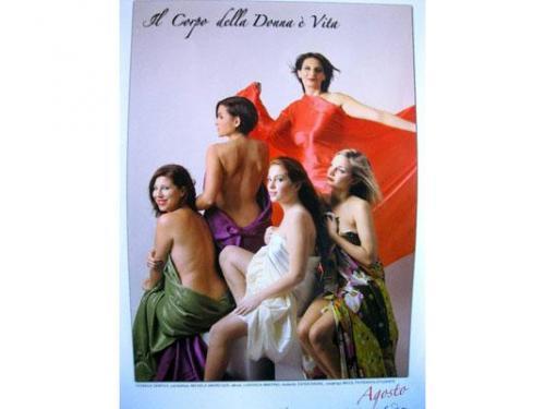 Calendario: il corpo della donna e? vita!