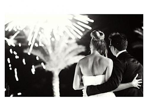 I fuochi d`artificio per gli sposi