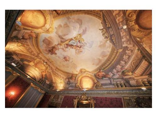 Il magnifico soffitto della sala del settecento