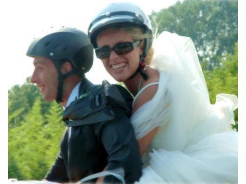 Ritratto di sposi in moto