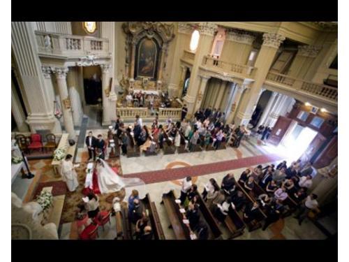 Panoramica in chiesa