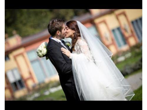 Gli sposi durante gli esterni