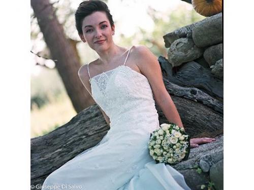 La sposa durante gli esterni