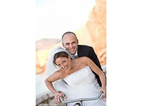 I sposi in bicicletta