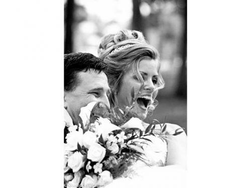 La gioia degli sposi