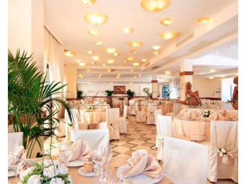 La lussuosa sala interna per ospitare un grande evento