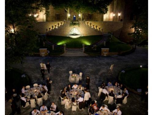 Banchetto di matrimonio di sera
