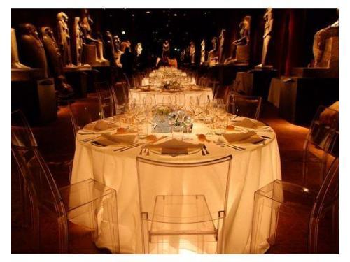 Cena al museo egizio
