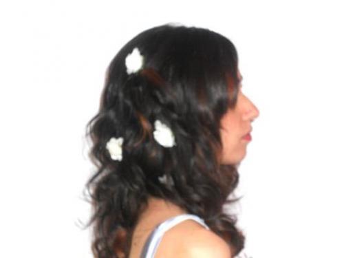 Fiorellini bianchi tra i capelli