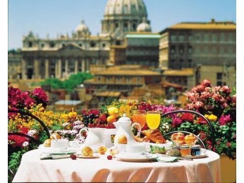 Colazione con vista su Roma