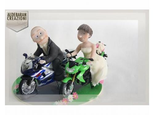 Cake topper personalizzati con moto
