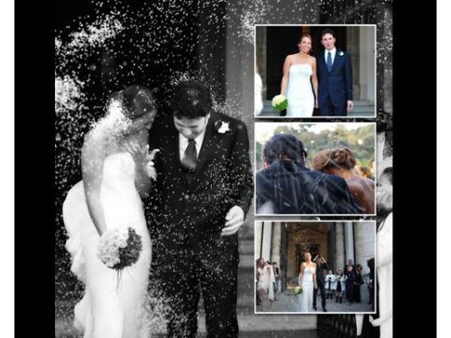 Composit degli sposi subito dopo la cerimonia