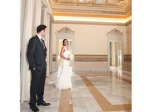 Gli sposi nella location