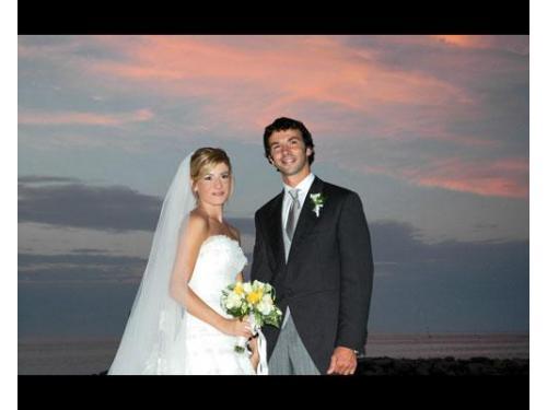 Gli sposi al tramonto