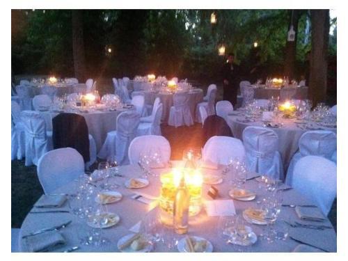 Wedding di sera nel parco