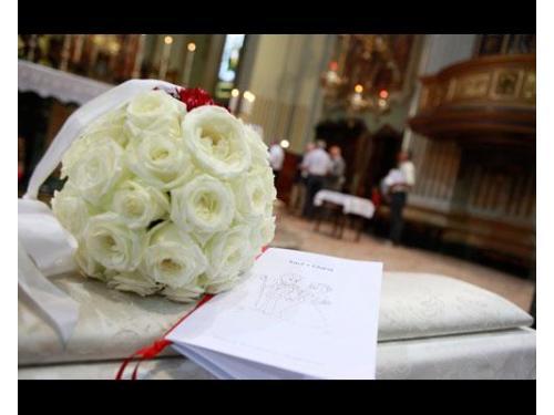 Il bouquet in chiesa