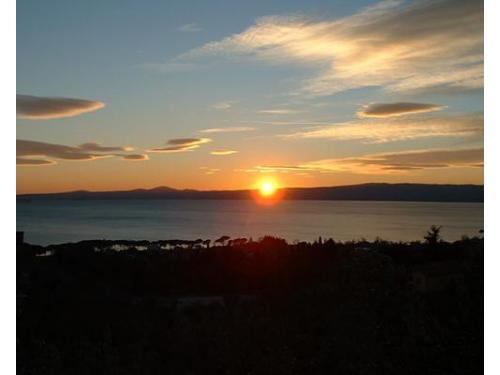 Il tramonto visto dalla location
