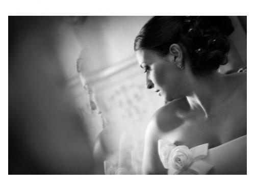 La sposa prima della cerimonia
