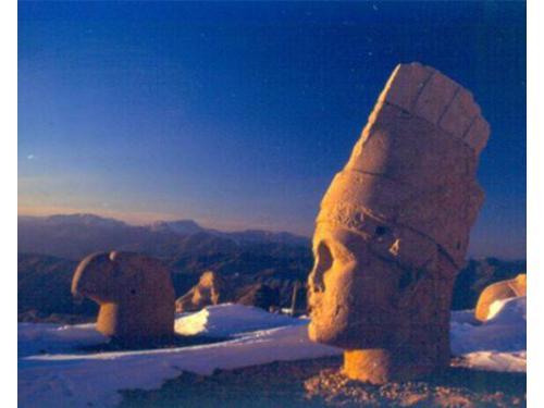Turchia, rovine sul monte di nemrut
