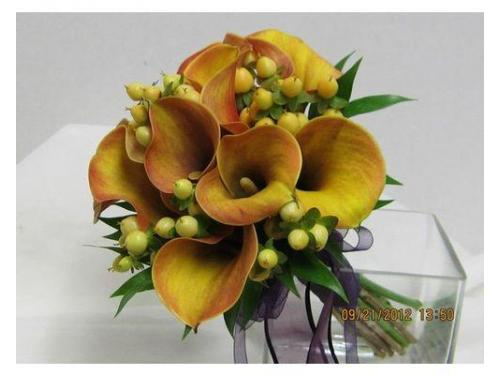 Bouquet calle arancio