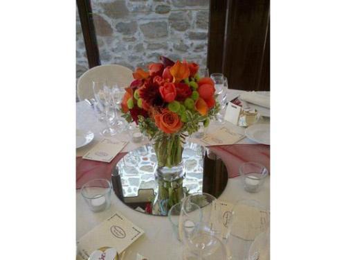 Tulipani e rose arancio