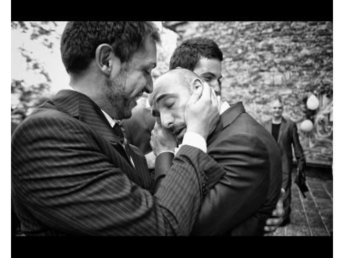 L`emozione dello sposo