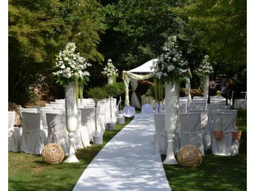 Allestimento in bianco per cerimonia civile