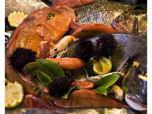 Ampio assortimento di pesce fresco