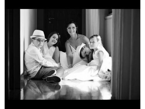 La sposa con i bambini