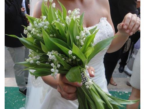 Bouquet da sposa verde