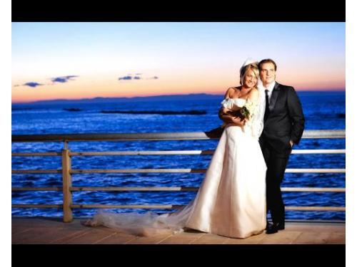 Una foto romantica alle luci del tramonto