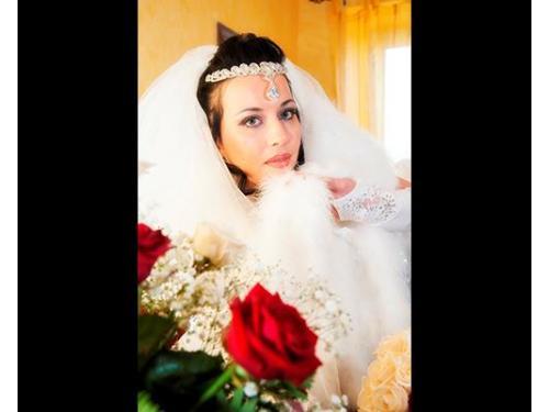 Particolare della sposa
