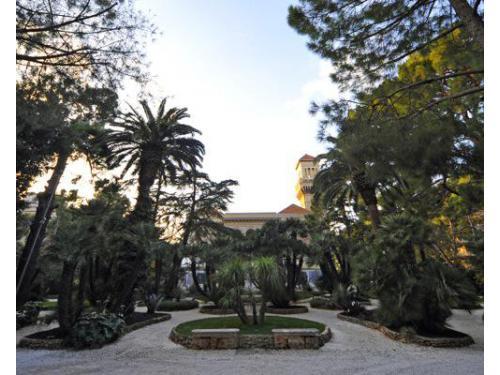 Ligresso principale della villa