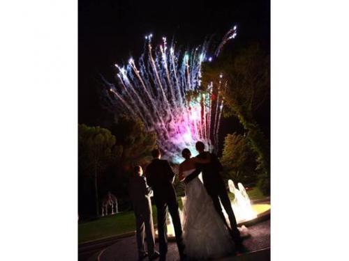 Scenografia fuochi d'artificio