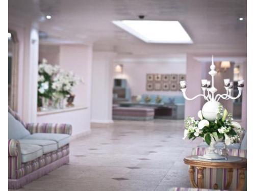 La hall per accogliere gli ospiti