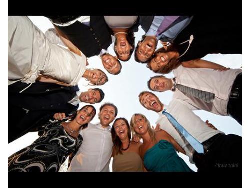Una foto con gli amici