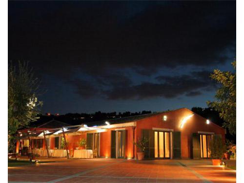 Vista in notturna della villa