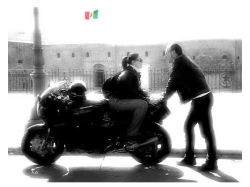 In moto