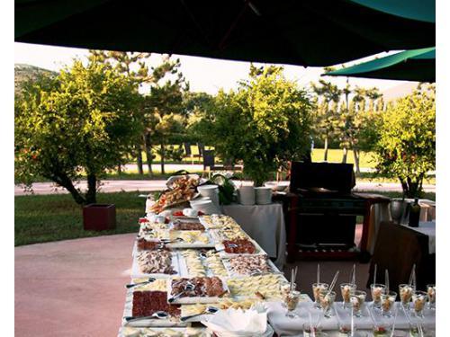 Il buffet all`aperto
