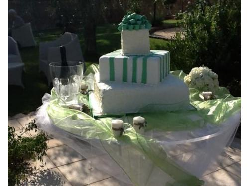 Tre piani verdi e bianchi