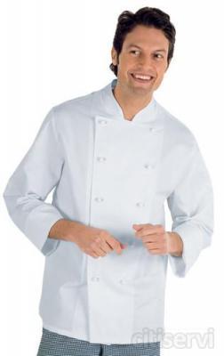 Giacca Cuoco € 16,90 Tessuto : 100% cotone Colore Bianco  taglie dallaS alla XXL