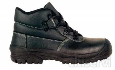 Scarpa antinfortunistica € 23,50 scarpa alta pelle nera puntale e lamina in acciao + sfilamento rapido